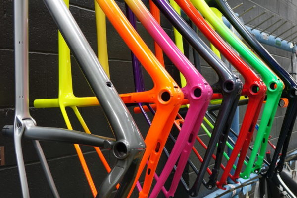 We took a trip out to Waterloo, WI yesterday to visit Trek Bicycle's headquarters. It was really cool seeing their facilities and operations - especially their paint department. Each frame is painted with Prime Coatings' 2K Polyurethane paint system. The colors are fantastic!